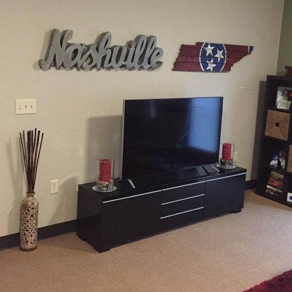 Nashville Metal Sign. Metal Nashville Sign. Rustic Nashville