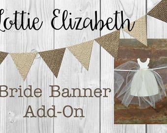 Bride Gown Banner Add-On