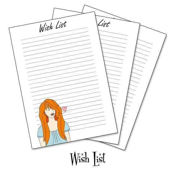 Wish list planner insert, Wishlist A5 planner insert, wish list printable INSTANT DOWNLOAD