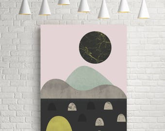 Scandinavian print, Scandinavian wall art, nordic art, abstract art, abstract landscape, abstract wall art, wall art decor, room decor, art