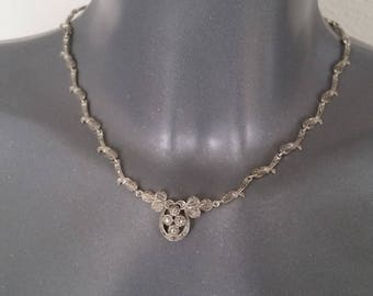 Necklace silver chain 925 Markasiten vintage SK482