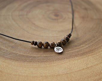 Men's OM Necklace / Men's Aum Necklace / Men's Cord OM Necklace