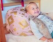 Kids Floor Pouf, Kids Poufs, Kids Room Furniture, Gold and Pink Decor,  Gold Bedroom Decor, Best Toddler Gifts, Nursery Floor Pouf, Pouf