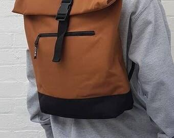 Slimline Minimalist Backpack Camel