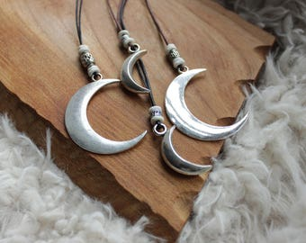 Crescent Moon necklace coconut