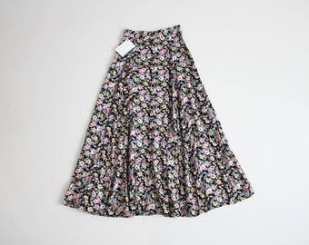 90s floral skirt | floral midi skirt | grunge skirt