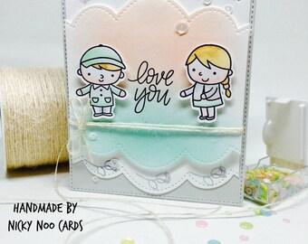 Handmade Card - Love You