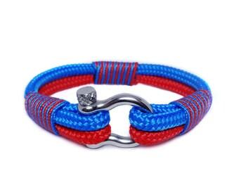 Nautical bracelet/Sailor Bracelet/Mens bracelet/mens survival bracelet/surfer bracelet/paracord bracelet/Shackle Bracelet.