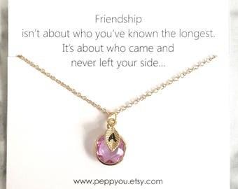 Birthstone Necklace, Personalize Birthstone Necklace, Initial Birthstone Necklace, Friend Necklace Gift, BFF Birthstone necklace, gift