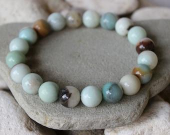 Amazonite Wrist Mala, 12mm Amazonite Bracelet, Amazonite Bracelet, Chakra Bracelet, Balance Chakras, First Quality Amazonite, Amazonite