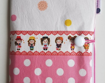 Colouring / Art Folio - Spotty Dolls