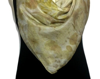 Design Silk Scarf, Green Scarf, Eco Print, Scarves Green, Women Scarf, Fashion Accessories, Scarves and Wraps, Handmade Scarf, Scarves
