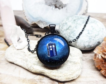 Doctor who necklace dr who necklace doctor who tardis necklace tardis pendant Gallifreyan necklace time lord necklace doctor who pendant
