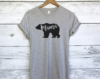 Mama Bear T-Shirt for Women - Mama Bear Shirt - Momma Bear T-Shirt - Shirts for Moms - Bear Shirts for Moms - Mother Shirts - Mothers Day