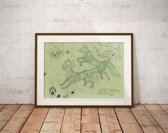 Medium - Fox and the Hound Art Print