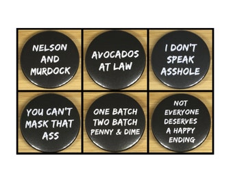 Daredevil quote metal pin back badges/magnets