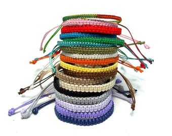 unisex string bracelet Friendship bracelet waxed adjustable bracelet Thread bracelet Macrame bracelet Beach jewelry womens gift girlfriend