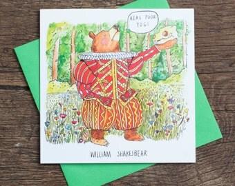 William Shakesbear - Greetings Card - Pun - Humour - Joke - Shakespeare