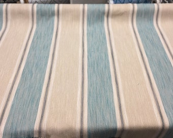 P Kaufmann Bramore Chenille Blue Stripes Fabric By The Yard 58