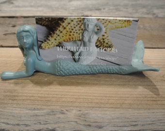 Mermaid Business Card Holder, Business Card Holder, You pick color