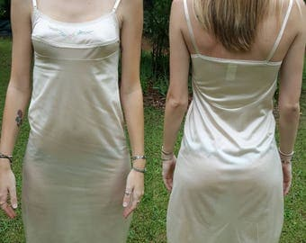 Vintage JCPenny Slip Nightgown Lingerie Night Gown Dress JC Penny Pennies Size 32 100% Antron Nylon