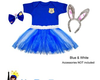 Judy Hopps Zootopia Police Tutu set - Girls dress up
