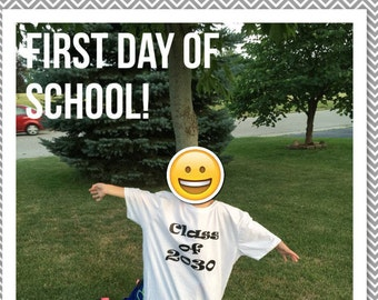 Watch Me Grow First Day of school: Class of 2030 T-shirt! (Child would be in Kindergarten Fall 2017)