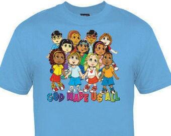 God made us all youth shirt!