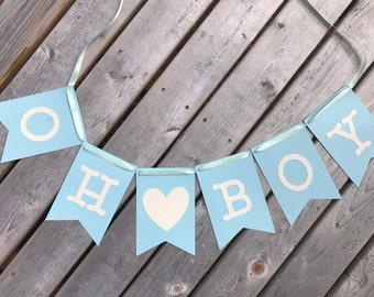 Baby Shower Banner, Birthday Banner, 1st Birthday banner, Baby Boy Banner, 1st Birthday.