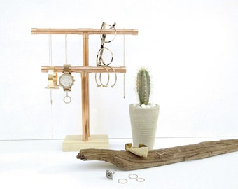 Copper Pipe Jewelry Display - Double
