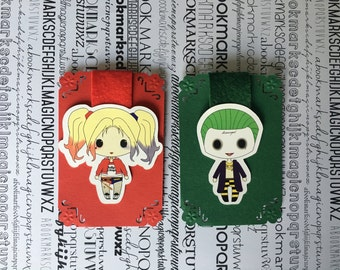 Harley quinn joker magnetic bookmark