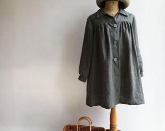 Linen Jacket, Womens Jacket Linen, Linen Coat, plus size jacket, Womens Coat Summer, Linen Cardigan, Linen Clothing, Work Jacket
