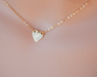 Gold Heart Necklace gold heart choker necklace Sideways Heart Necklace rose gold heart pendant Small Heart Necklace love heart necklace