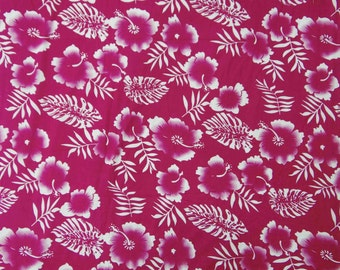 """Dressmaking Fabric, White Floral Print, Pink Fabric, Home Decor Cotton Fabric, 41"""" Inch Quilting Fabric By The Yard ZBC7267B"""