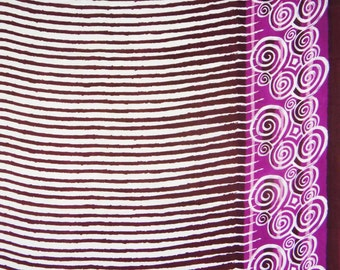 "Designer Fabric, Stripe Print, White Fabric, Cotton Fabric, Dress Material, Sewing Fabric, 43"" Inch Fabric By The Yard ZBC7299A"