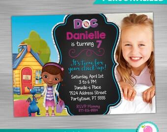 Doc Mcstuffins Invitation Print Yourself, Doc Mcstuffins Birthday, Doc Mcstuffins Party