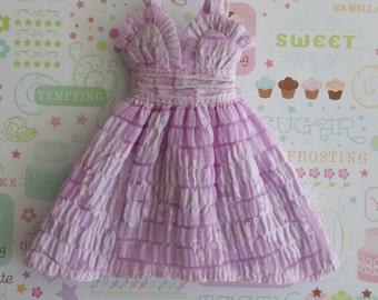 Lovely Lilac Flower Taffeta Dress * Blythe * Pullip *