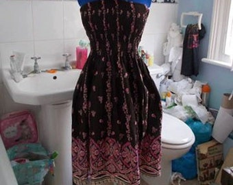 Long dress indian style bathroom