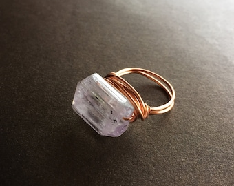 Kunzite Ring - Size US 5.5