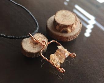 Raw Imperial Topaz Necklace