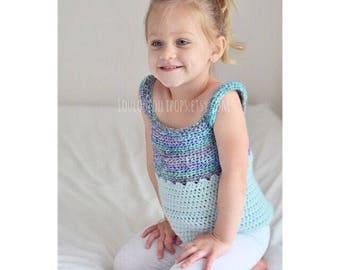 Kids Crochet Top | little girls crochet top, crochet shirt, girls tank top, crochet tank top, crochet summer top, kids crochet tank top