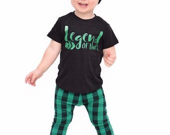 legend of luck, cute st patricks day shirt, boy st patricks day, girl st patricks day tee, toddler, baby, unisex, clover shirt, outfit
