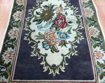 2' x 3' Persian Tabriz Oriental Rug - Hand Made - 100% Wool