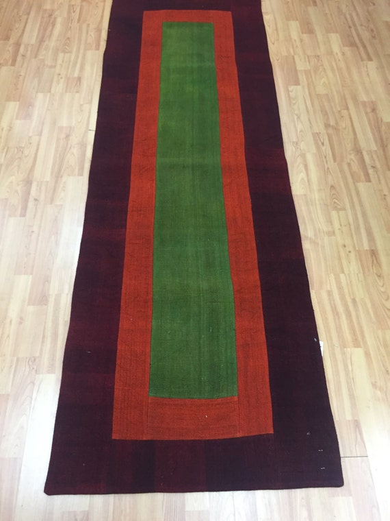 "2'7"" x 7'10"" Turkish Kilim Runner Oriental Rug - Hand Made - 100% Wool"