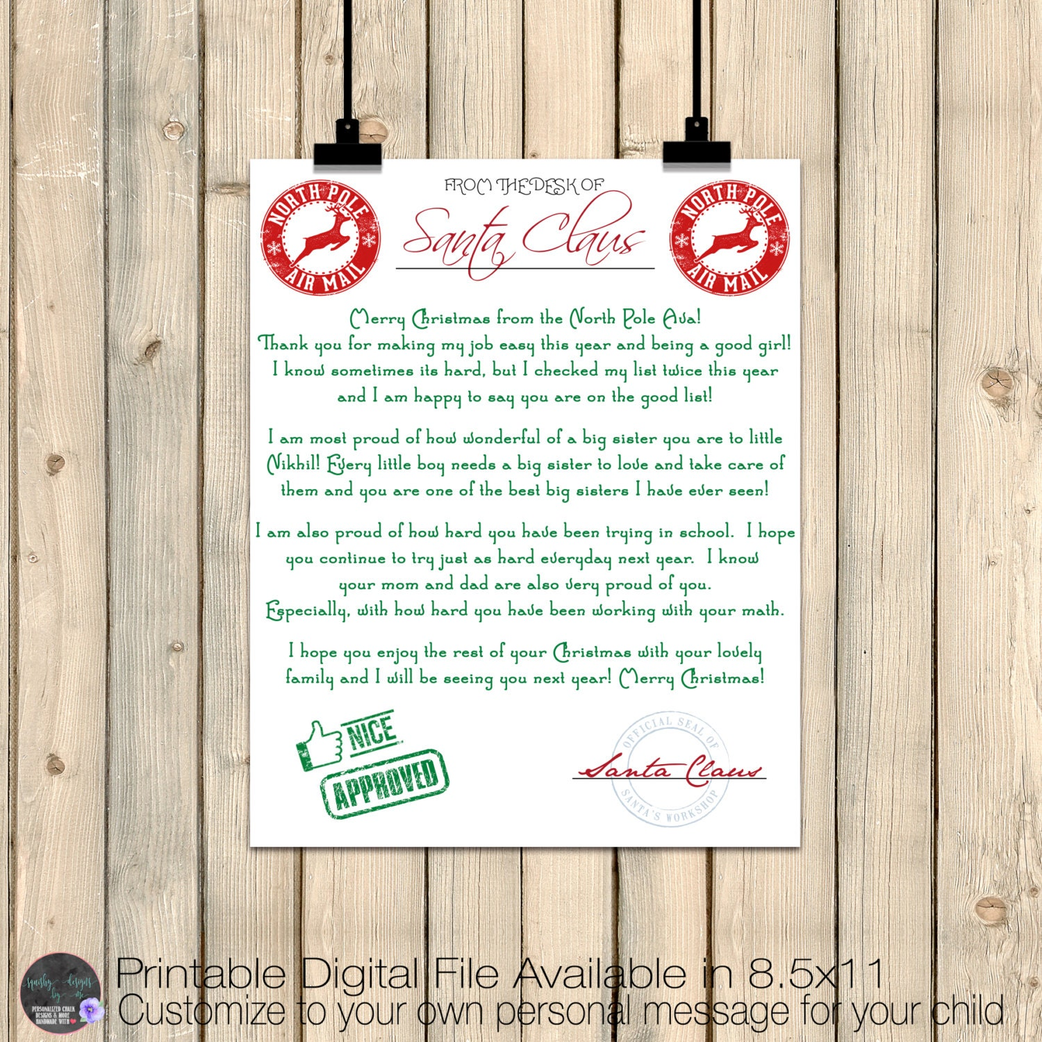 santa claus letter letter from santa claus santa claus letterhead list 24721 | il fullxfull.1143375153 r4oy