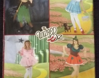 Simplicity Sewing Pattern 2547, Size 18W - 24W, Wizard of Oz Costume, Dorothy, Glinda Good Witch, Scarecrow, Wicked Witch Pattern, New UnCut