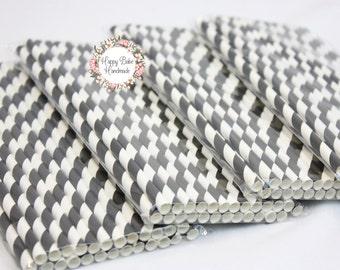 Black Striped Straws, Striped Straws, Black Straws, Pack of 25, Food Safe Ink, Black Party Decor, Black Paper Straws, Paper Party Straws