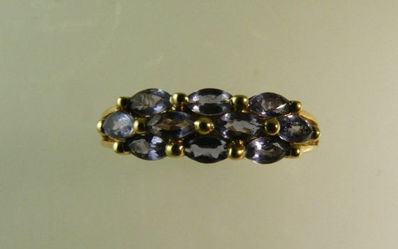 Iolite Ring 0.55ct 14k Yellow Gold