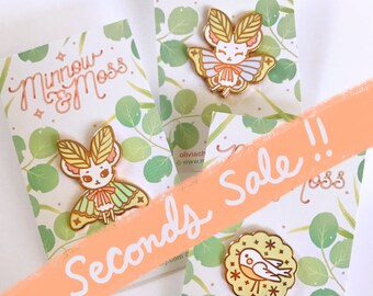 Pin Seconds Sale- Mousemoth and Bird Biscuit
