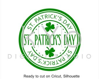 St Patrick Day svg cut print files, St. Patricks Day stamp, Clover svg, Shamrock svg cuttable svg files for Cricut and Silhouette #svg